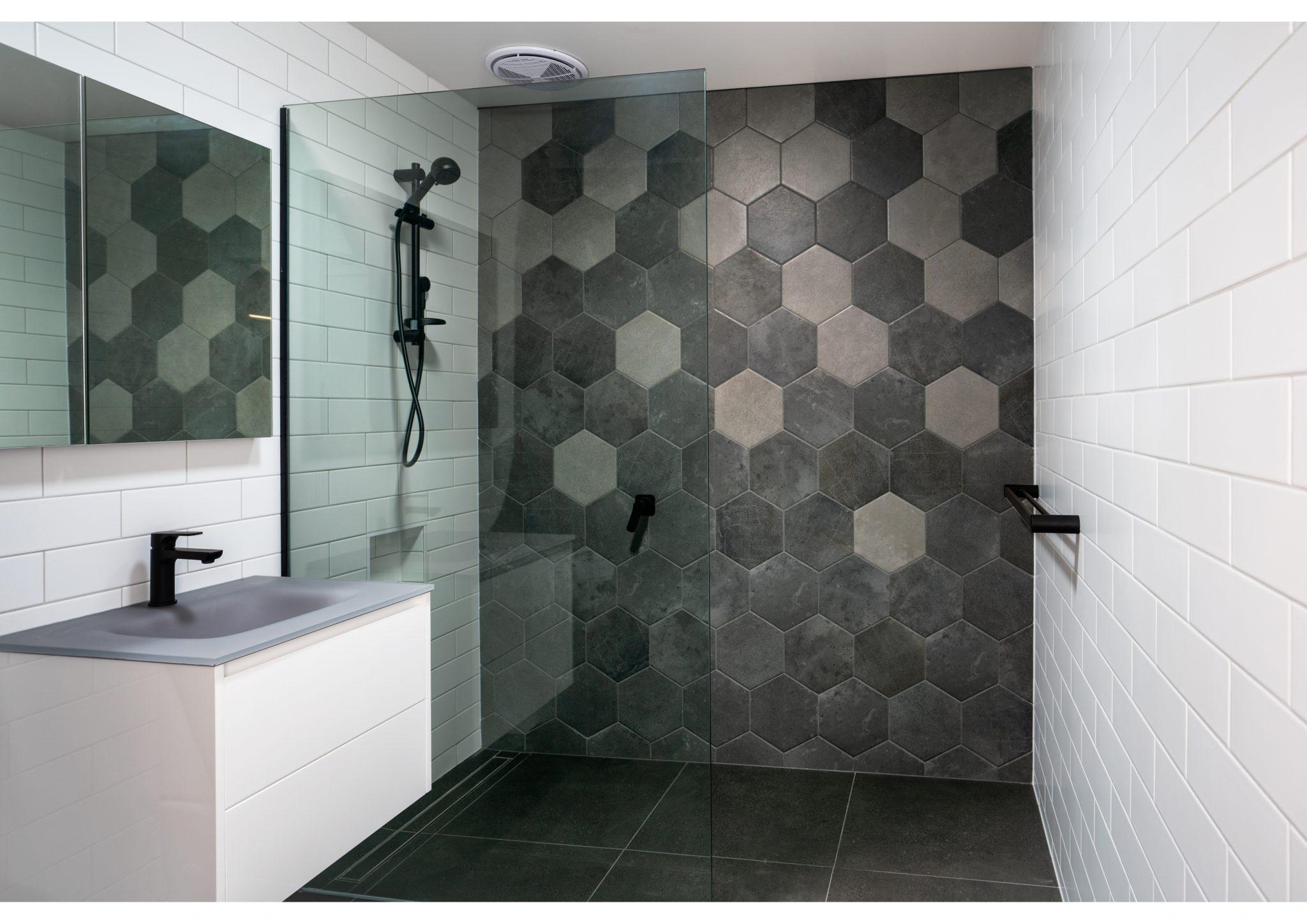 Taradale new home bald feature tiles bathroom